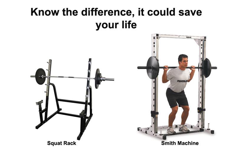 squat rack vs smith machine