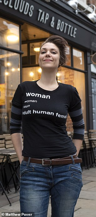 c38e446d39 You might have thought it was the most innocuous item someone could wear  a  simple black T-shirt bearing the dictionary definition of woman as  human  ...
